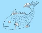 Disegno Pesce 3 pitturato su LUIGI
