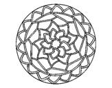 Disegno Mandala 1 pitturato su da stampare
