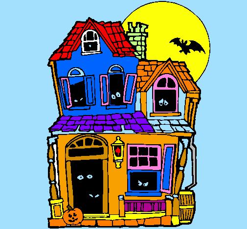 Disegno la casa del mistero ii colorato da utente non - Colorare la casa ...