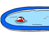 Disegno Palla in piscina pitturato su Martina