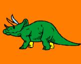 Disegno Triceratops  pitturato su FRANCESCO