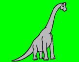 Disegno Branchiosauro  pitturato su marghe