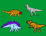 Disegno Dinosauri di terra  pitturato su FRANCESCO