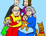 Disegno Famiglia pitturato su Aurora.d.m