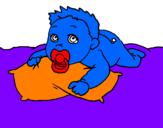 Disegno Bambino che gioca  pitturato su LORENA