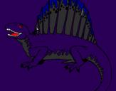Disegno Spinosauro  pitturato su davide