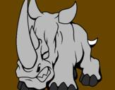 Disegno Rinoceronte II pitturato su maddy