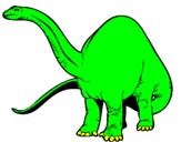 Disegno Branchiosauro II pitturato su edoardo