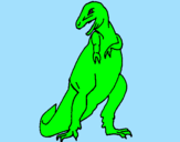 Disegno Tyrannosaurus Rex pitturato su Beatrice