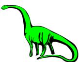 Disegno Mamenchisauro  pitturato su alba