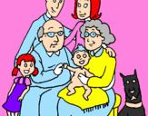 Disegno Famiglia pitturato su matilde