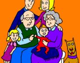 Disegno Famiglia pitturato su TITTI