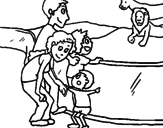 Disegno Zoo pitturato su francesco