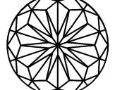 Disegno Mandala 41 pitturato su rosone