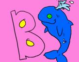 Disegno Balena pitturato su aurora