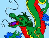 Disegno Drago giapponese  pitturato su Giulia