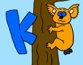 Disegno Koala  pitturato su Lorenzo R.