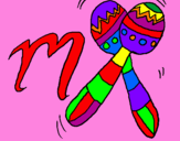 Disegno Maracas pitturato su nick  lala
