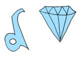Disegno Diamante pitturato su acolore.com