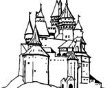 Disegno Castello medievale  pitturato su fgg