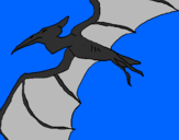 Disegno Pterodattilo II pitturato su leonardo