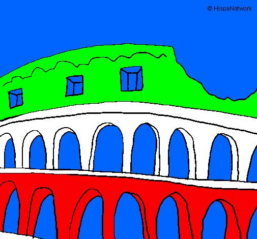 Disegno colosseo colorato da utente non registrato il 12 for Colosseo da colorare