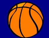 Disegno Pallone da pallacanestro pitturato su matteov