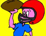 Disegno Giocatore pitturato su filippo ziggiotto