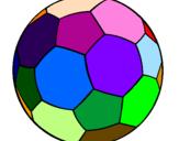 Disegno Pallone da calcio II pitturato su lollo