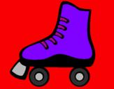 Disegno Pattino a rotelle pitturato su JULIA