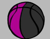 Disegno Pallone da pallacanestro pitturato su Giada