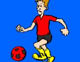 Disegno Giocatore di calcio  pitturato su elia