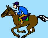 Disegno Corsa di cavalli  pitturato su JULIA