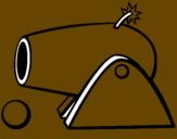 Disegno Cannone pitturato su giovanni mori