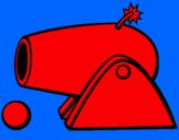 Disegno Cannone pitturato su lorenzo2