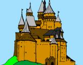Disegno Castello medievale  pitturato su castello