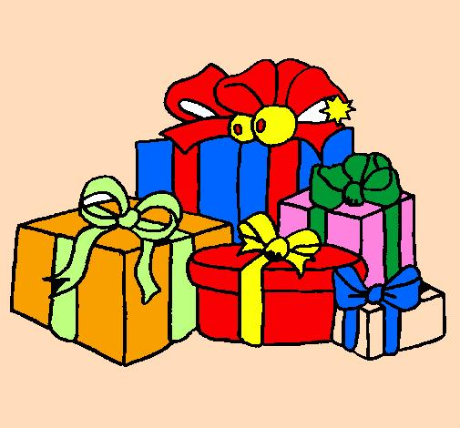 Disegno un sacco di regali colorato da utente non