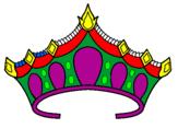 Disegno Tiara pitturato su corona