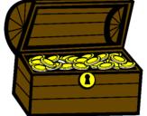 Disegno Tesoro pitturato su kazi anan