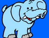 Disegno Elefante pitturato su Rebecca