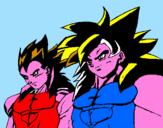 Disegno Dragon Ball pitturato su stella  zats e zucoti