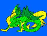 Disegno Drago marino  pitturato su Lucia