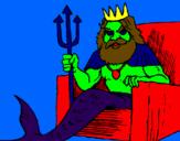 Disegno Nettuno  pitturato su ELISA