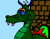 Disegno Drago con la nausea  pitturato su stefano