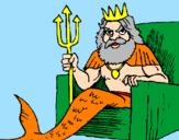 Disegno Nettuno  pitturato su Gabriele