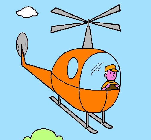 Elicottero Disegno : Disegno elicottero colorato da utente non registrato il