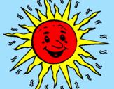 Disegno Sole  pitturato su andrea