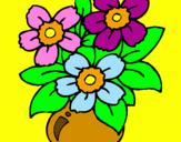 Disegno Vaso di fiori  pitturato su GIUSEPPE