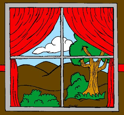 Disegno finestra colorato da utente non registrato il 03 for Finestra rinascimentale disegno