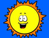 Disegno Sole pitturato su michele4